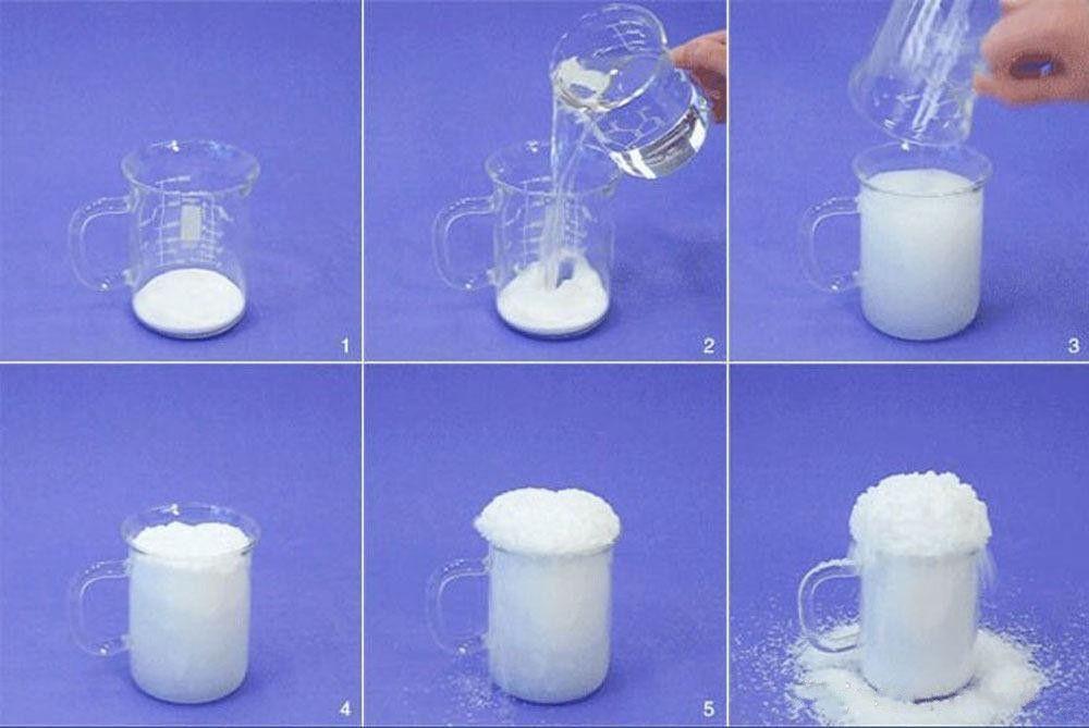 Décoration De Noël instantanée neige magie Prop Bricolage instantanée artificielle poudre de neige Simulation faux Neige pour la fête de nuit