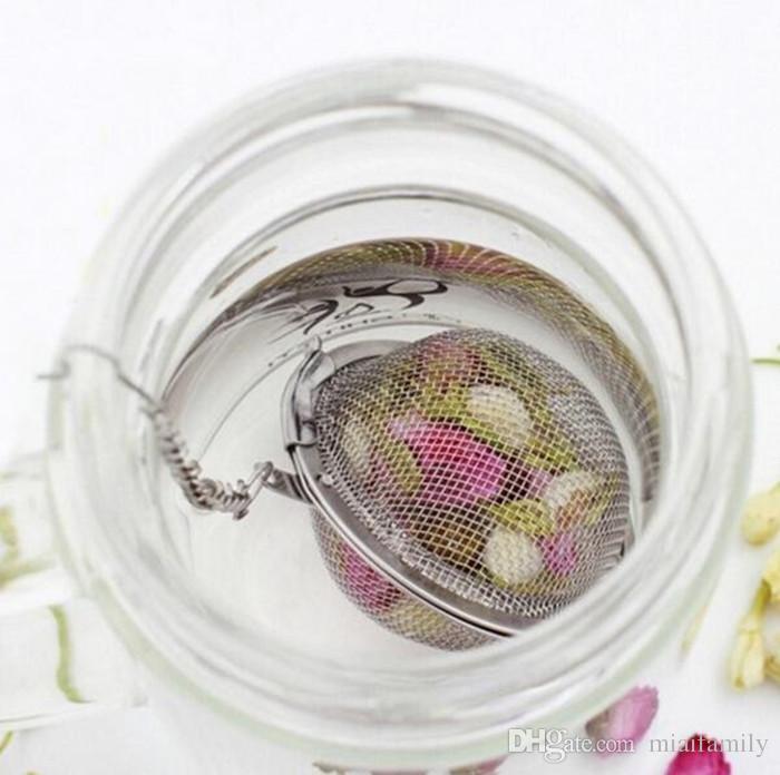 Neue Edelstahl-304 Sphere Locking Spice Tee-Kugel-Sieb-Ineinander greifen Infuser Teesieb Filter infusor DHLfree