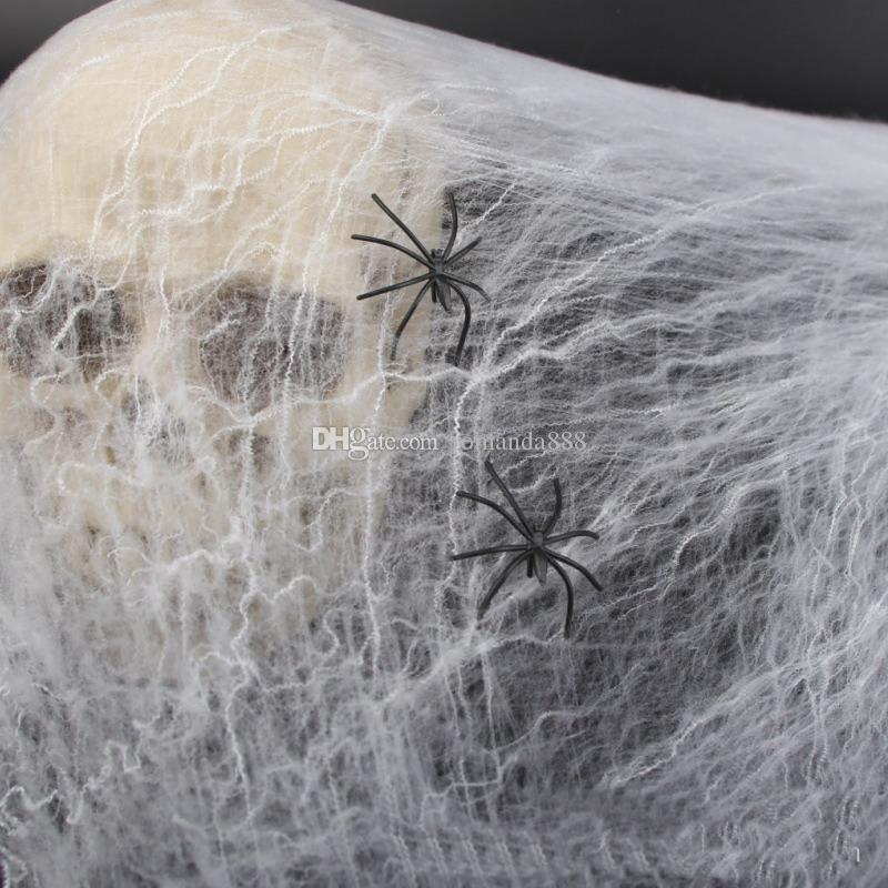 DHL Бесплатная доставка Хэллоуин украшения поддельные хлопок паутина паутина паутина дом с привидениями Хэллоуин реквизит украшения дома 5 цветов