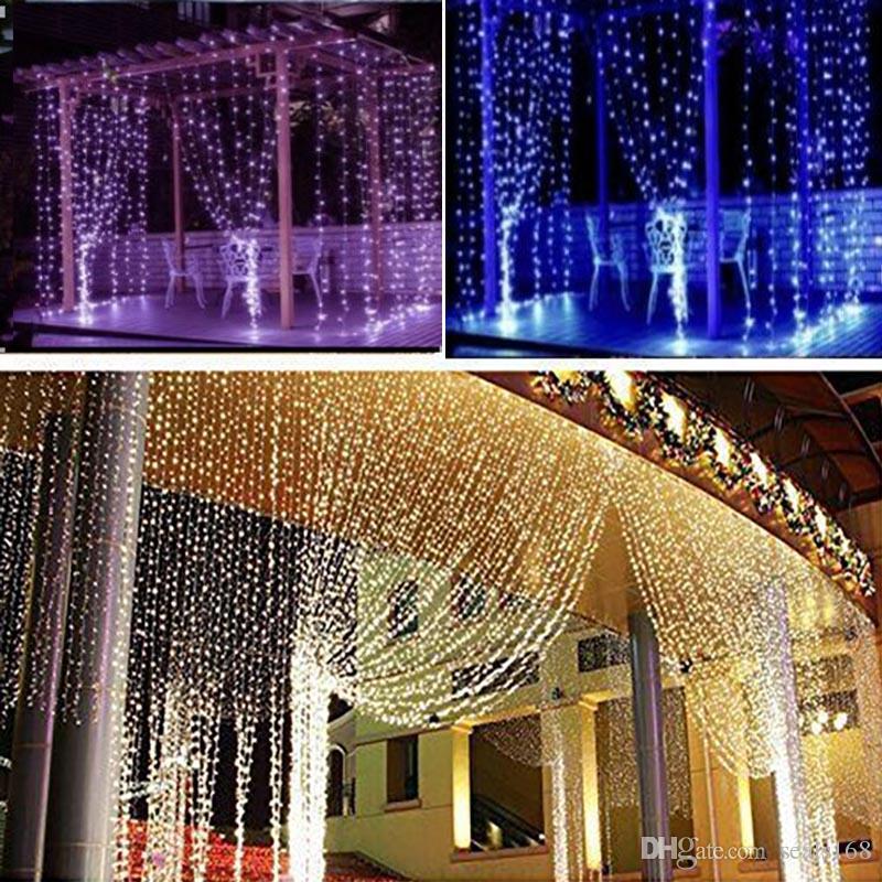 2018 300 Led Curtain Light Icicle Christmas String Fairy