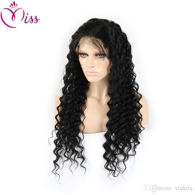Brazilian Human Hair Loose Curly Glueless Full Lace Wigs 6A Lace Front Human Hair Wigs Deep Curly Hair Lace Front Wig