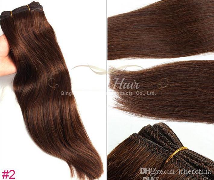 Großhandel Malaysisches Haar 2 Teile Los 14 24 Zoll Schwarz Farbe