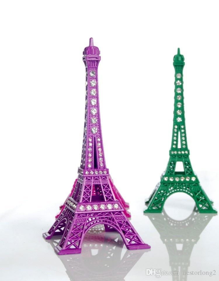 Yeni Ev Metal El Sanatları Bronz Paris Torre Eyfel Dekor Heykelcik Heykeli Vintage Alaşım Modeli Eyfel Kulesi Dekorasyon Hatıra