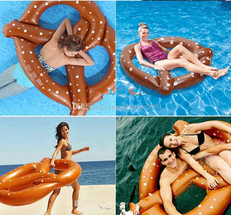 Yüzme Havuzu oyuncaklar Ekmek Yüzme Yüzük PVC Şişme Havuz Şamandıra Donut Havuzu Şişme Havuz Oyuncaklar Ücretsiz Nakliye Yüzen