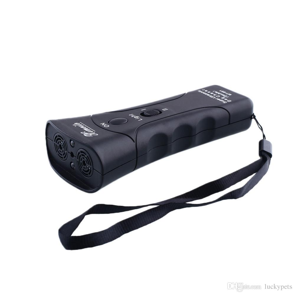 New Pet products High Power Multi Function Anti Barking Stop Bark Ultrasonic Dog Trainer With LED Light Shipping Free With DHL 161008