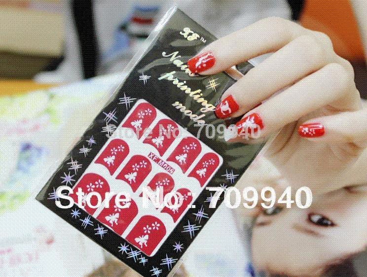 48 Designs Easy Nail Art Stencil Hollow Template Sticker Item No ...