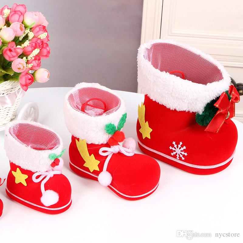 Christmas Boots Candy Box Christmas Decoration Christmas Wedding Candy Bags Lovely Gifts Xmas Boots Stocking For Children