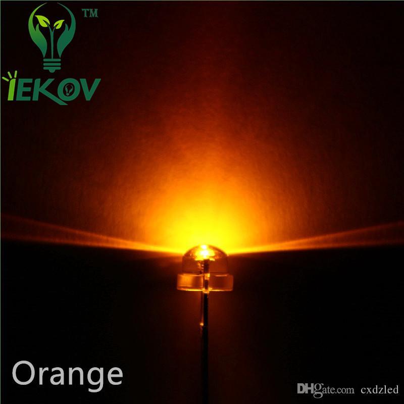 High Quality 5mm Straw Hat Orange/Amber Led Wide Angle Light Bulb Led Lamp Urtal Bright 5MM Emitting Diodes Wholesale