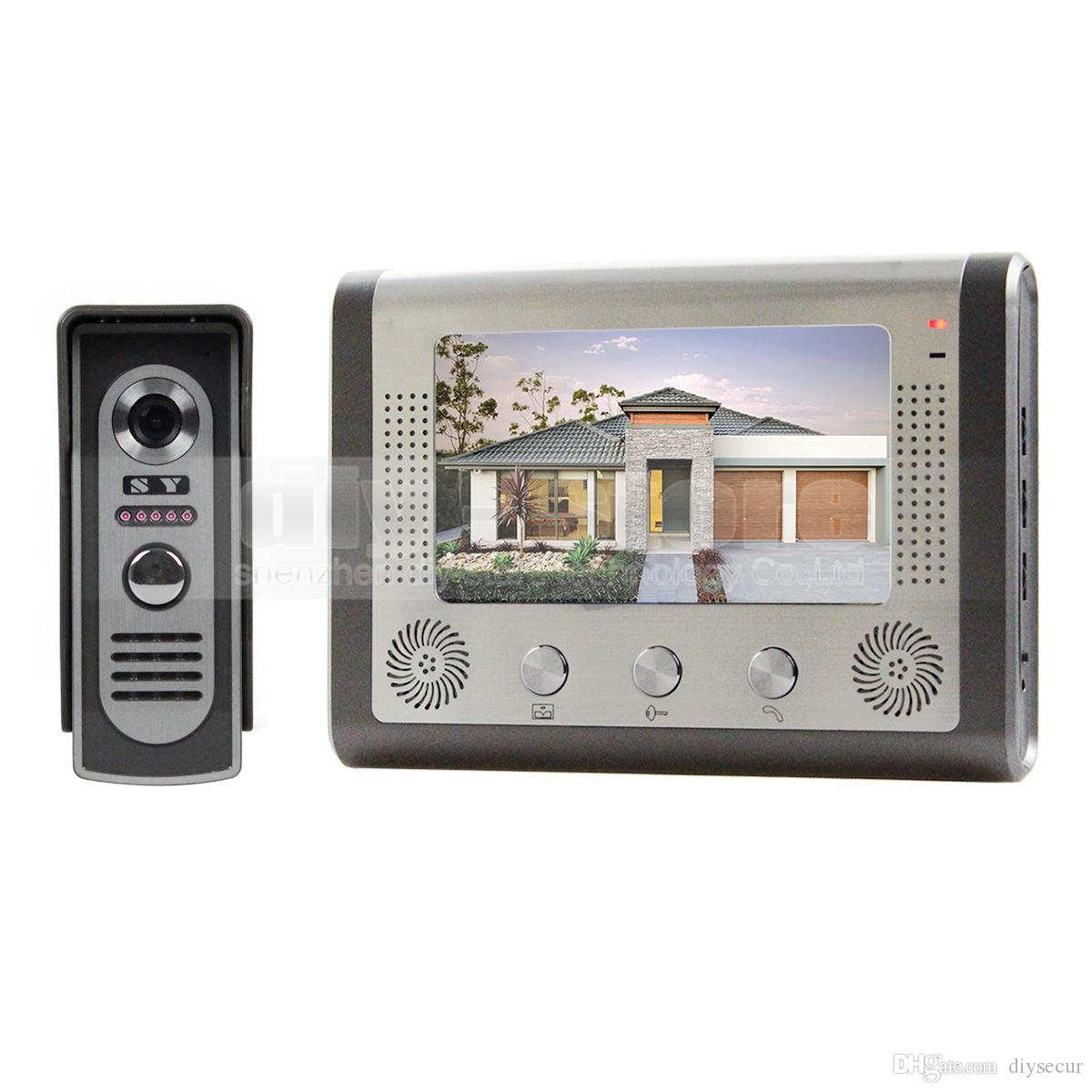 front door intercom7 Inch Wired Video Door Phone Door Bell System Kit Home Security