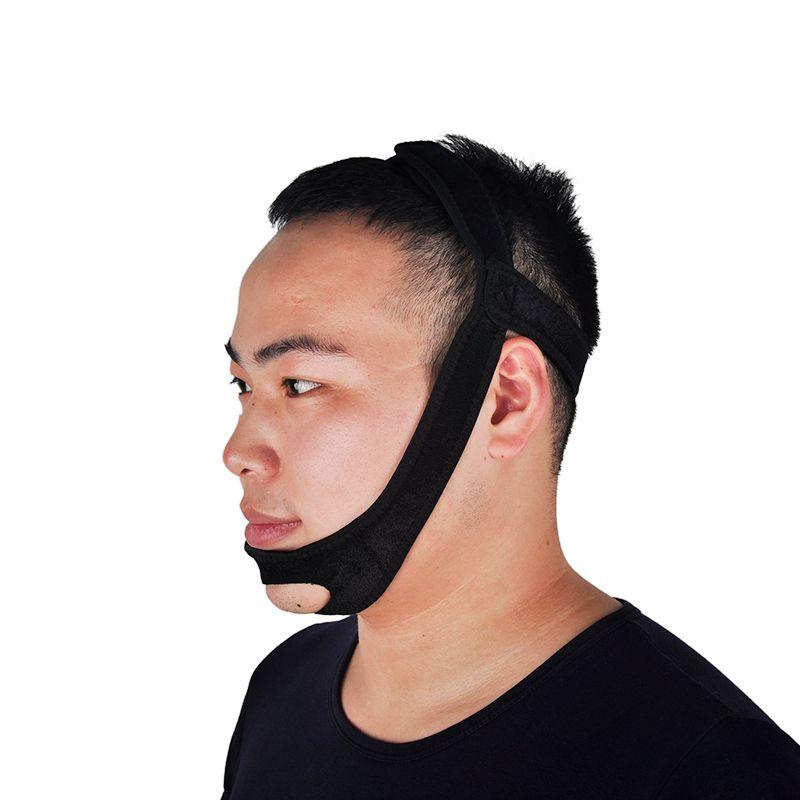 Black Anti Snoring Chin Strap Neoprene Stop Snoring Chin Strap Support Belt Anti Apnea Jaw Solution Sleep Device 0613019