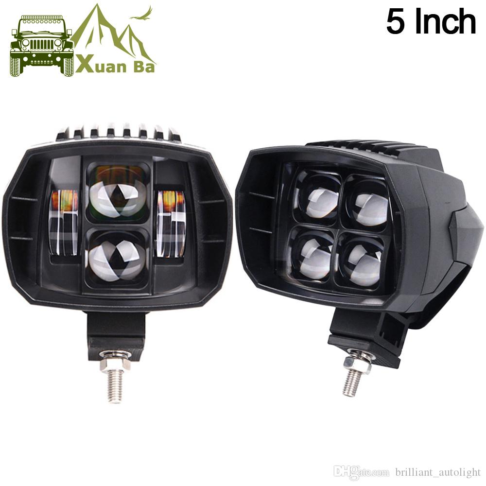 Xuanba 5 Inch 35w Cree Offroad Led Work Light High Low Beam 12v 4x4 ...