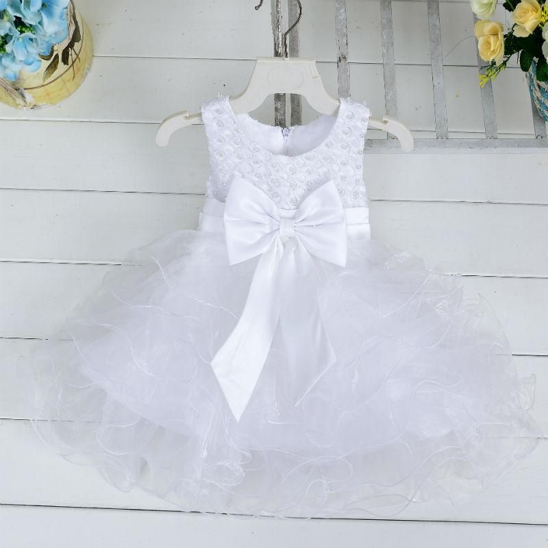 Newborn babies princess dress baby holidays tutu skirts with big bow infant toddler pearl ball gown