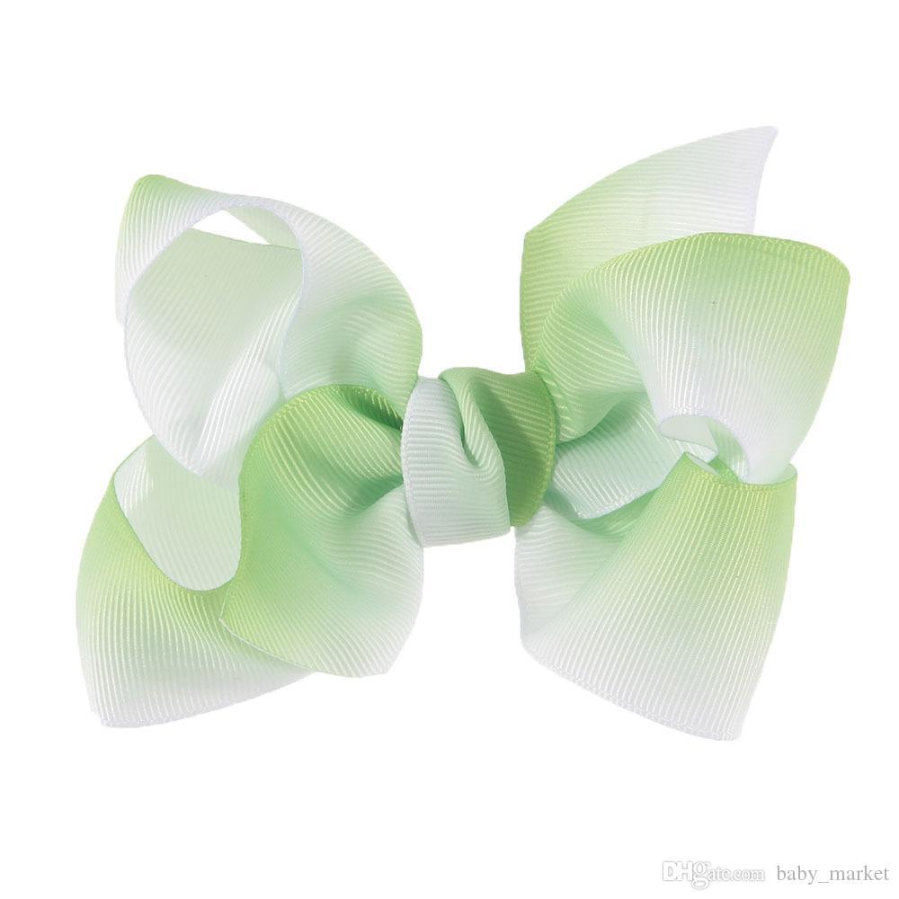 2 stil mevcut! 5 inç jojo Ombre gökkuşağı el yapımı bow kızın saç klip kafa hairband twisted butik yay Saç aksesuarları 30 adet /
