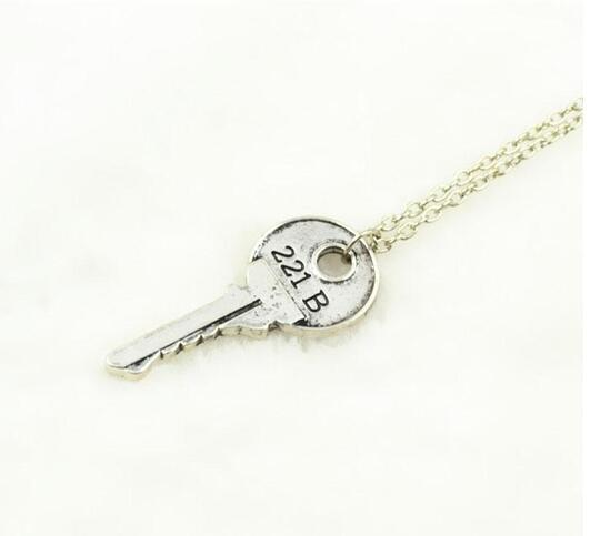 Apartment Key Necklace Movie Sherlock Holmes Key Necklace The Abominable Bride Sherlock Pendant Sherlock Holmes NO CHAIN DHL