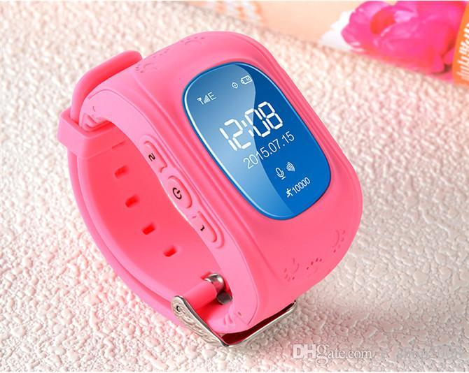 Q50 crianças smart watch crianças gps watch tracker crianças segurança relógio lbs localização sos crianças anti lost para ios android phone dhl