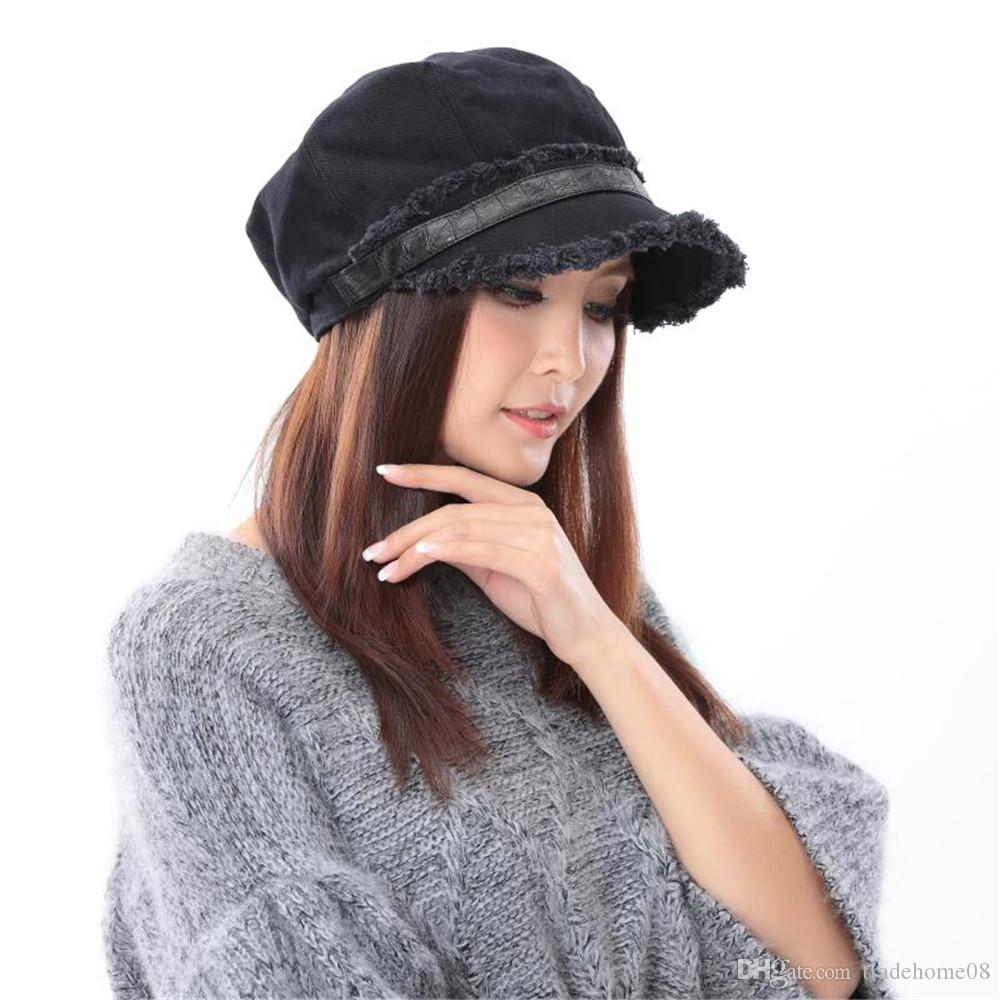 f65d2593430 2019 New Fashion High Quality Woman Unique Winter Warm Outoor Sports Hats  100% Cotton Girl Berets Warm Caps From Tradehome08