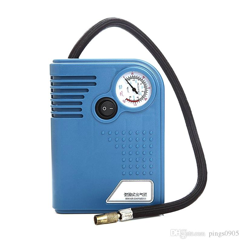 Car Auto Inflatable Pump Air Pump Emergency Air Compressor Cigarette Lighte Power Supply Tire Tools with Tire Pressure Gaug
