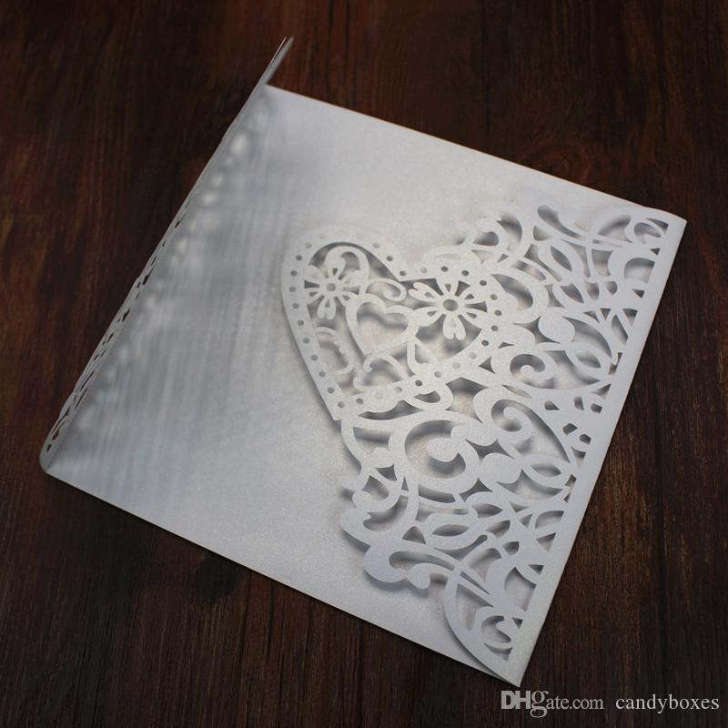 Herzform-Heiratgrußkarten-Valentinstag Bevorzugungs-Verzierungshochzeitseinladungen kardieren Herzformentwurf des kostenlosen Versands