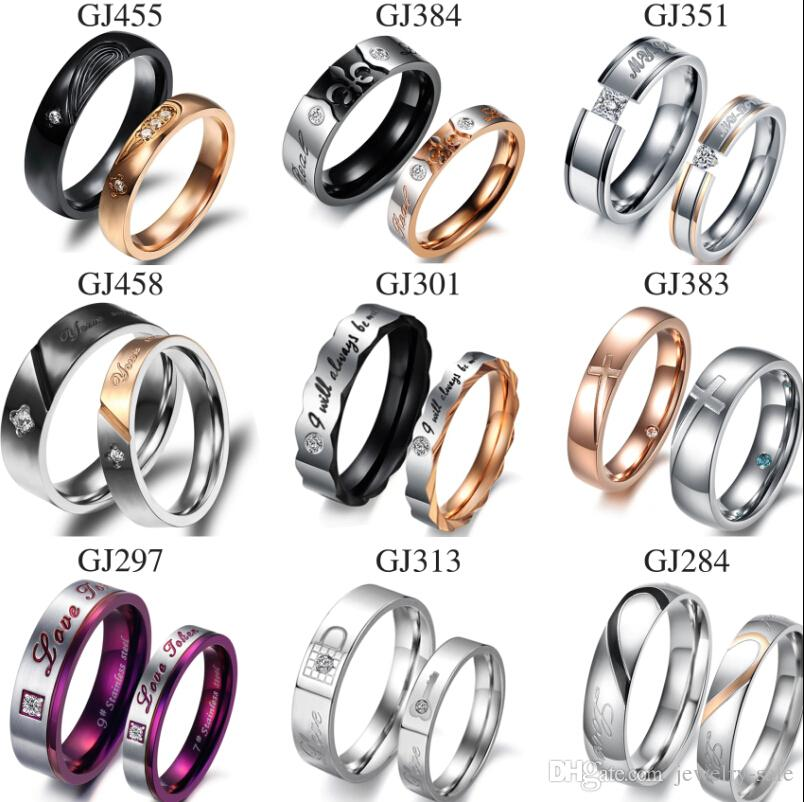 Rings fashion  2017 Stainless Steel Fashion Jewellery Hands Ring Lover From ...