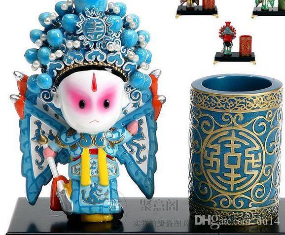 L'artisanat de Pékin artisanat créatif stylo caractéristiques d'ameublement décoration du bureau d'affaires pour envoyer des cadeaux d'anniversaire étrangers