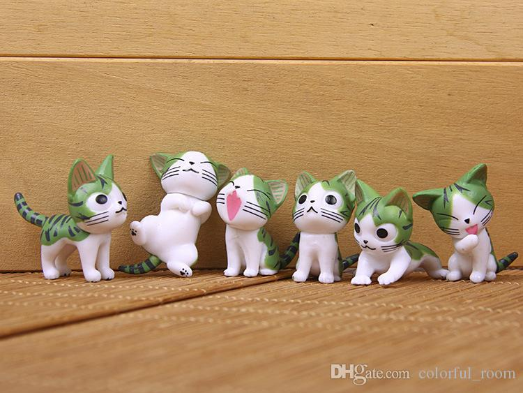 Sale Mini cartoon cat cartoon Toppers Doll PVC Action Figures Toy Fairy Garden Miniatures Craft For Home Decor Birthday Gift