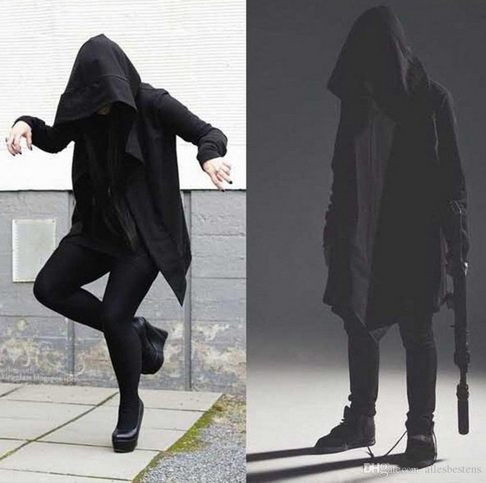 2018 Assassins Creed Cloak Coats Male Casual Outwear Solid Hoodie Jumper Cotton Ml Mens Sweatshirts Fashion Black Hooded Hoodies Plus Size M L Xl 2xl 3xl From