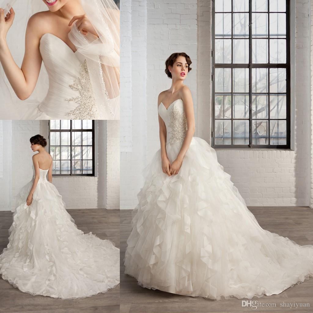 Petite Wedding Gown Designers: Sexy Corset Wedding Dresses 2016 New Cosmobella Designer