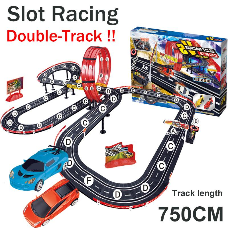 Toy Car Track : Online cheap rail car toy slot racing f equation
