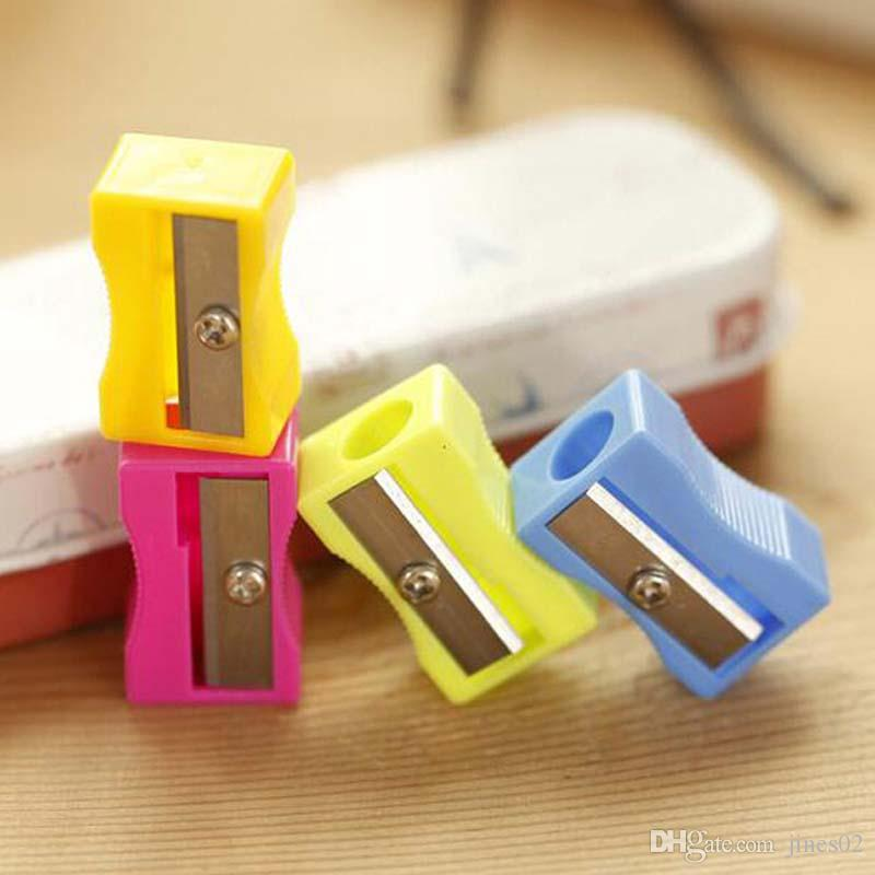 High Quality Single Holes Pencil Cutter Pencil Sharpener School Office Supplies Creative Material Escolar