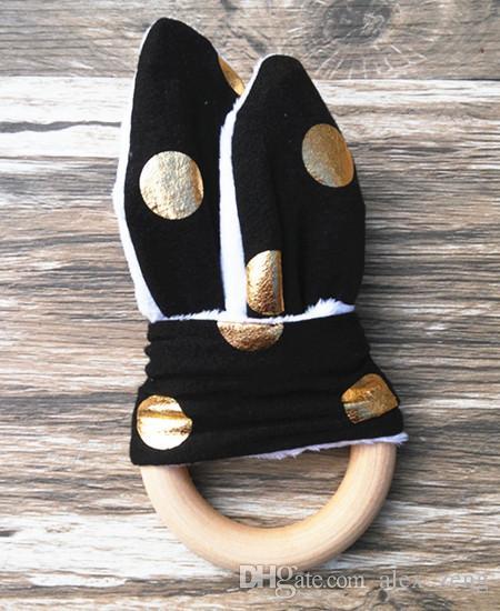 Bambino di dentizione anello di sicurezza ambientale Baby Friendly Massaggiagengive Anello la dentizione di legno di formazione di dentizione denti del bambino mastica bambino Stick