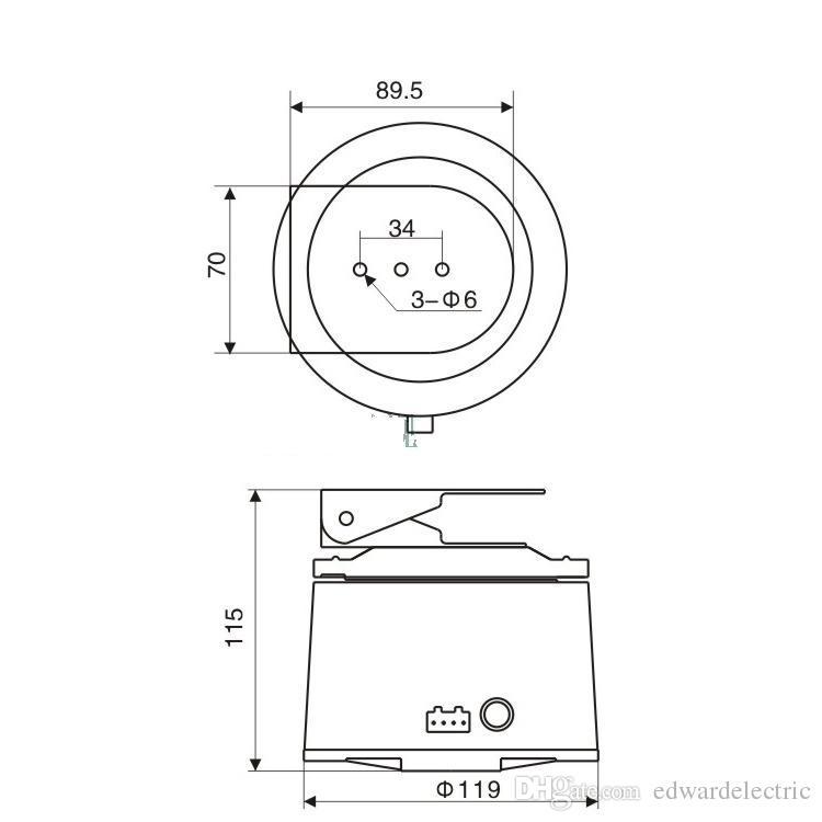 2019 dc 12v cctv bracket ptz electrical rotating rs485