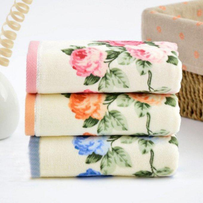 35*75cm 4 Printed Rose Cotton Hand Towels Set,Luxury Terry Hand Towels,Flower  Face Bathroom Hand Towels Set,Toallas De Mano Striped Bath Towels  Monogrammed ...