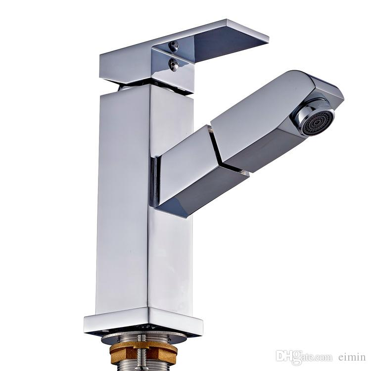 Wholesale and retail Tensile basin faucet Pull out spray brass kitchen The kitchen & bathroom faucet Pull out spray Mixer tap