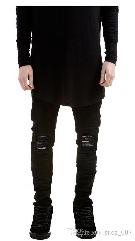 2017 New Hi Street Mens Black Ripped Jeans Men Plus Size 27 40 ...