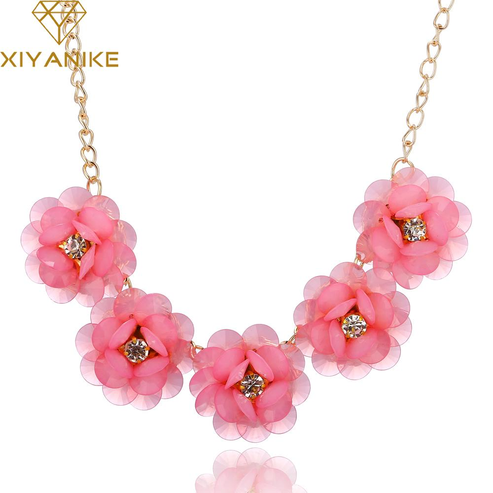 7cd0daee 2019 Wholesale New Korean Fashion Sweet And Rich Summer Fashion Flowers  Short Necklace Women Statement Necklace SO Beautiful XY N447 From  Fashionwatch06, ...