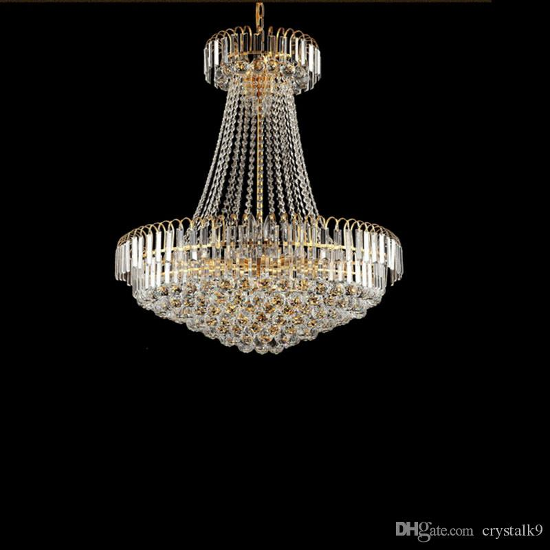 Royal Empire Golden Crystal chandelier Light French Crystal Ceiling Pendant Lights D500mm X H450mm