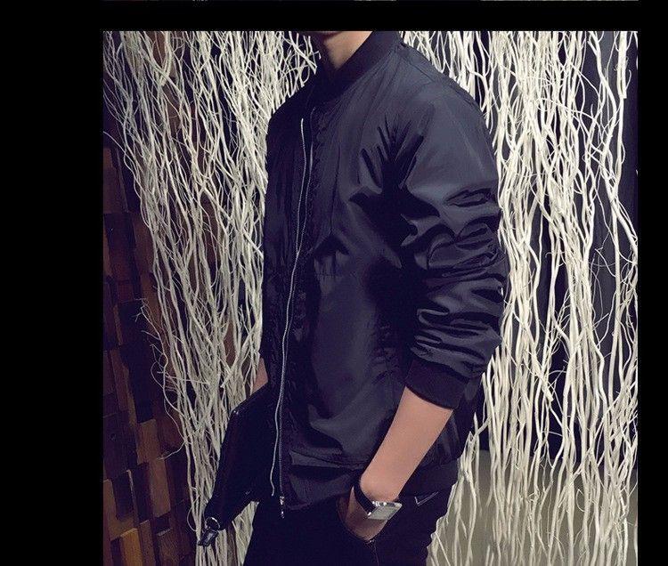 2016 nueva llegada primavera otoño chaquetas de los hombres abrigos de moda sólida masculina ocasional del soporte del cuello de la chaqueta de los hombres outerdoor abrigo M-XXXXL
