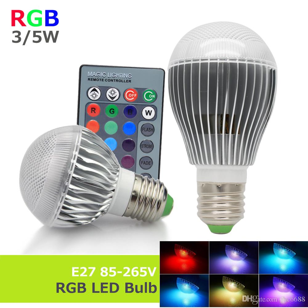 Best e27 85 265v rgb led lamp bulb 3w5w light 110v220v with best e27 85 265v rgb led lamp bulb 3w5w light 110v220v with remote control dimmable lampada bombillas change home lighting led candle bulbs h11 led bulb parisarafo Image collections