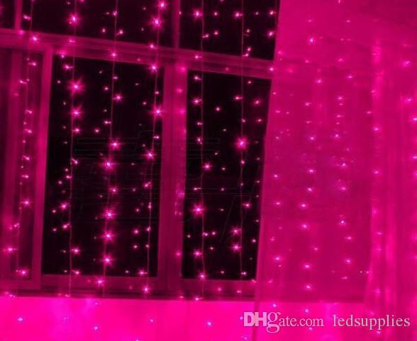 YENI VARıŞ Gerçek Değiştirilebilir renkler aynı Adet Perde noel ışıkları 10 * 3 m 8 * 3 m 6 * 3 m 3 * 3 m led süs işık Peri düğün