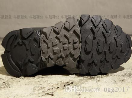 Осень и зима Y3 мужская обувь кожа черный воин высокая, чтобы помочь пары повседневная обувь увеличение толстого дна