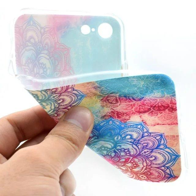 Aztec Henna White Paisley Flower TPU Soft Case For Samsung Galaxy Iphone 7 Plus Iphone7 Clear Crystal Mandala Phone Cover Skin