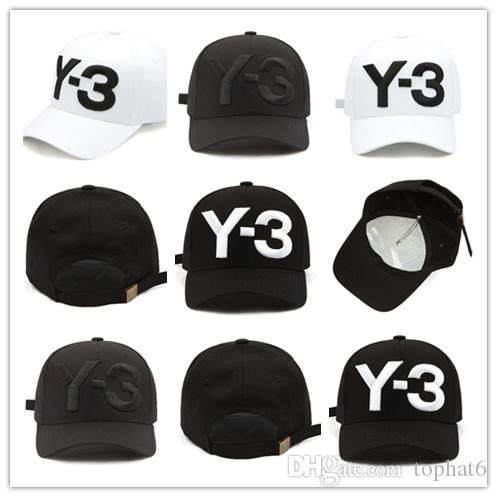 ff98b0f318d6c Hot Fashion New Y 3 Dad Hat Big Bold Embroidered Logo Baseball Cap  Adjustable Strapback Hats Y3 Flexfit Hats For Men From Tophat6