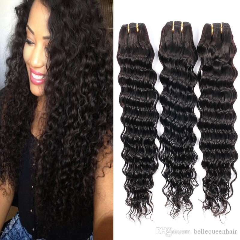 Malaysian Deep Wave Hair Bundles Malaysian Hair Weave For Sale 7a