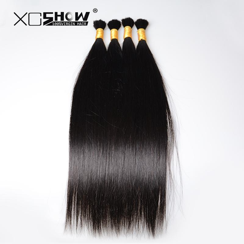 200gram 25 75cm Indian Hair Bulk 100 Raw Human Hair Material Human