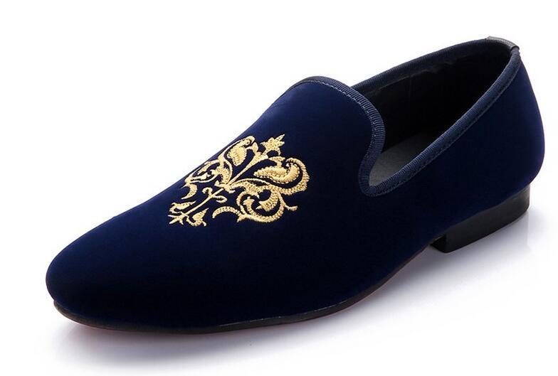 Acquista 2016 Mocassini Uomo Stile Europeo Ricamo Uomini Scarpe Di