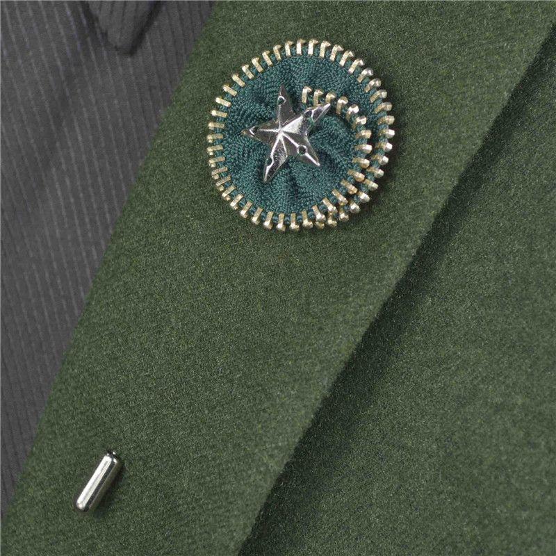 BoYuTe Nuevo Producto 5 Unids Broche de Disco de Cremallera de Metal de Alta Calidad Hecho A Mano Pentagram Pin de Solapa de Los Hombres para Trajes de Joyería de Moda