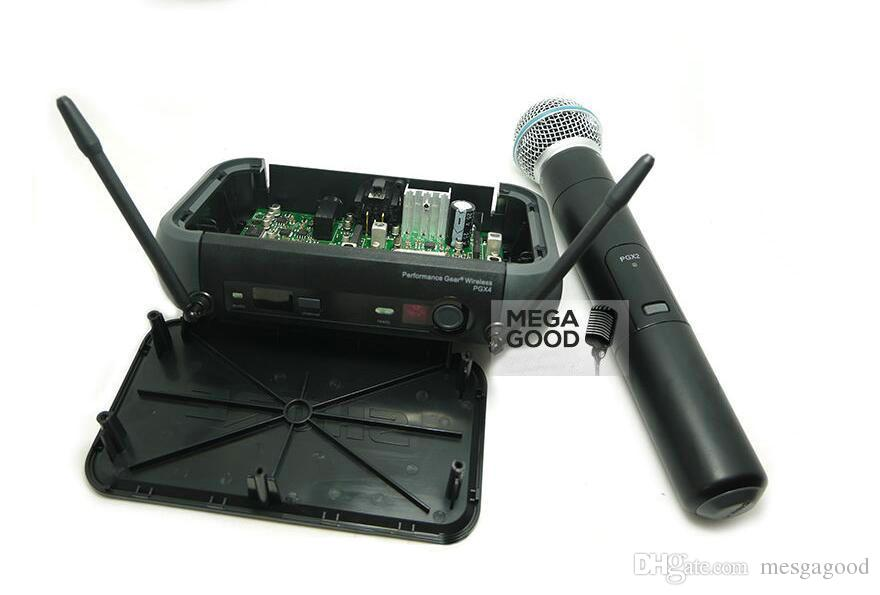 2 Adet Microfono Ücretsiz PGX PGX14 PGX24 BETA UHF Kablosuz Mikrofon Karaoke Sistemi BodyPack BETA58 El Mic ve Orijinal Kutusu Olmadan
