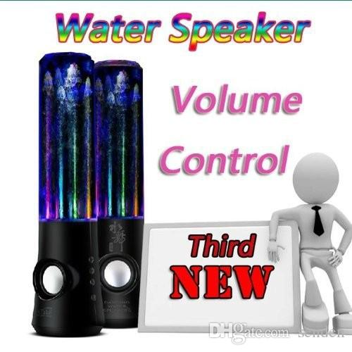 Original Atake Colorful LED Light Water Dancing Speaker,Diamond Fountain Stereo water Spray Speakers for Computer/Mobile phones/Tablet PC