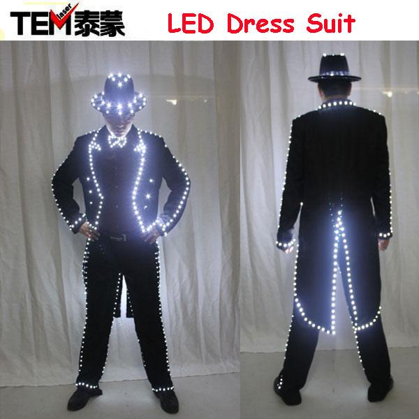 2017 New2016 Mj Style Led Luminous Women Costume Growing Light Up ...
