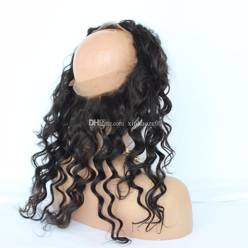 360 Lace Frontal Closure 8A Malaysian Virgin Hair Loose Wave Lace Frontal For Black Women Lace Frontals Closure With Baby Hair